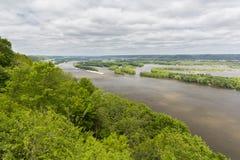 风景的密西西比河 免版税图库摄影