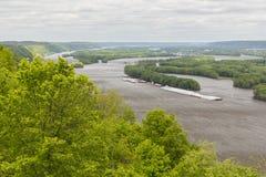 风景的密西西比河 免版税库存照片