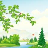 风景的山 免版税库存照片