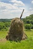 风景的干草 免版税库存图片