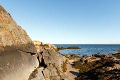风景的海滩,长岛海湾 免版税库存图片