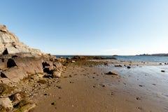 风景的海滩,长岛海湾 库存图片