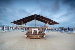 风景的海滩, Viareggio,意大利 免版税图库摄影