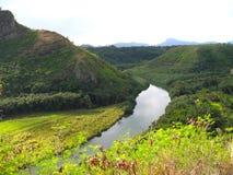 风景的考艾岛 免版税库存图片