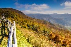 风景的蓝岭山脉俯视 免版税库存图片