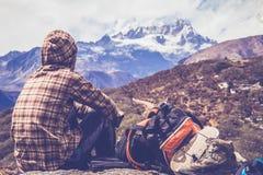风景的Dzongri 免版税库存图片