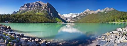 风景的Lake Louise 免版税库存图片