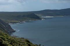 风景看法向错误海湾和开普敦半岛 免版税库存照片