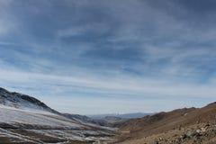 风景看法在吉尔吉斯斯坦 图库摄影