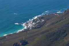 风景看法在开普敦,桌山,南非 免版税库存图片