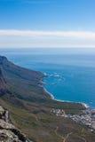 风景看法在开普敦,桌山,南非 库存图片
