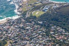 风景看法在开普敦,桌山,南非 图库摄影