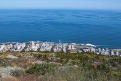 风景看法在开普敦,桌山,南非 库存照片