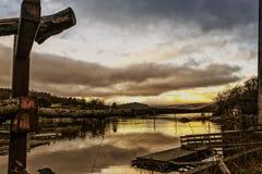 风景看法在Fosnavaag地区,挪威 库存图片