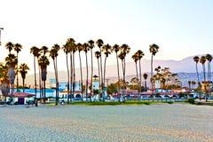 风景码头在圣塔巴巴拉 免版税图库摄影