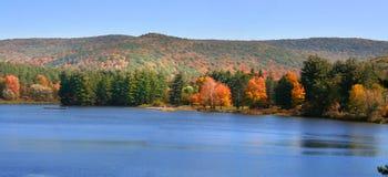 风景秋天的全景 免版税图库摄影