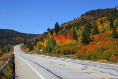 风景秋天的驱动器 库存图片