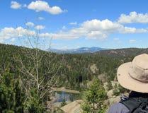 风景科罗拉多风景从远足者观点 库存图片