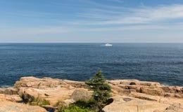 风景缅因海岸线 库存图片