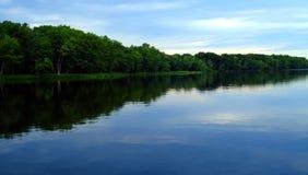 风景缅因的河 免版税库存照片