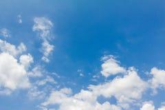 风景蓝天和云彩 库存图片
