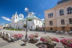 风景街道的看法在Rzeszow 波兰 免版税库存图片