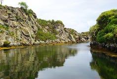 风景被保护的港口在英伦三岛 免版税库存图片