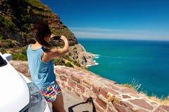 风景观点妇女 免版税库存图片