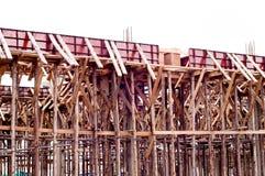 风景视图的木建筑 库存图片