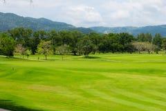 风景视图高尔夫球 免版税库存图片