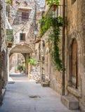 风景视域在帕琴特罗, L `天鹰座,阿布鲁佐,中央意大利省  库存图片