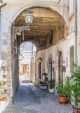 风景视域在帕琴特罗, L `天鹰座,阿布鲁佐,中央意大利省  免版税图库摄影