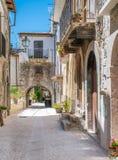 风景视域在帕琴特罗, L `天鹰座,阿布鲁佐,中央意大利省  库存照片