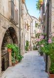 风景视域在帕琴特罗, L `天鹰座,阿布鲁佐,中央意大利省  免版税库存照片