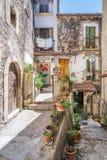 风景视域在帕琴特罗, L `天鹰座,阿布鲁佐,中央意大利省  图库摄影