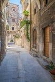 风景视域在帕琴特罗, L `天鹰座,阿布鲁佐,中央意大利省  免版税库存图片