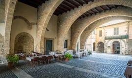 风景视域在阿纳尼,弗罗西诺内,拉齐奥,中央意大利省  图库摄影