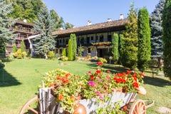 风景设计特罗扬修道院,保加利亚 库存照片