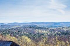 风景豚脊丘的山在绿色山国家公园俯视  库存图片