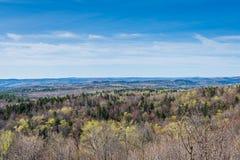 风景豚脊丘的山在绿色山国家公园俯视  图库摄影