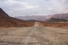 风景路在沙漠 免版税库存照片