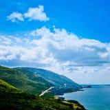 风景路Cabot足迹布雷顿角岛NS加拿大 库存照片