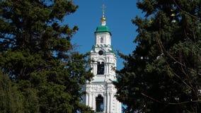 风景阿斯特拉罕克里姆林宫教会 股票视频