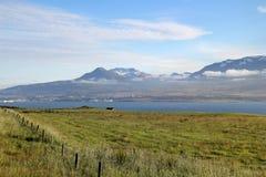 风景风景在冰岛。 免版税库存照片