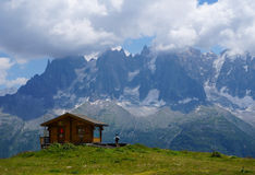 风景风景在勃朗峰 免版税库存图片
