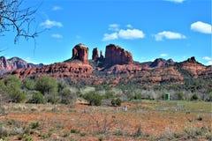 风景风景,跨境17,旗竿的菲尼斯,亚利桑那,美国 图库摄影