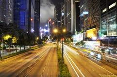 风景香港的晚上 免版税库存照片