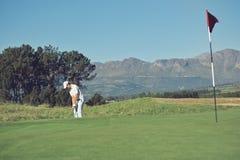 风景高尔夫球切击 库存图片
