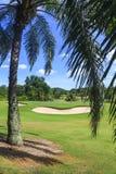 风景高尔夫球场在泰国 库存图片