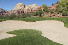 风景高尔夫球漏洞 免版税库存图片